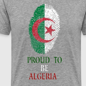 Stolt over at være Algeriet fingeraftryk - Herre premium T-shirt