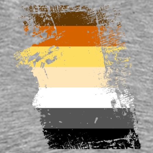 drapeau déchiré ours - T-shirt Premium Homme