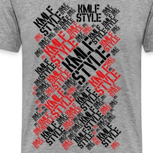 KMLF STYLE graphisme LONG red 2 - T-shirt Premium Homme