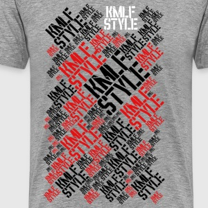 KMLF STYLE graph-red and black Long Version - Men's Premium T-Shirt