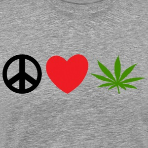 Peace Love Marijuana Cannabis Weed Pot - Men's Premium T-Shirt
