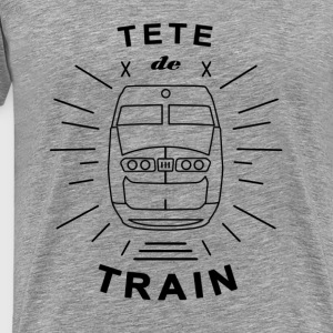 Tete_De_Train_Black_Aubstd - Herre premium T-shirt