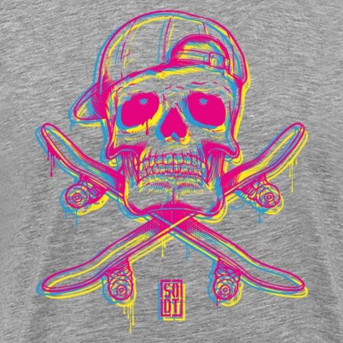 skull crossboard colormebad x - Männer Premium T-Shirt