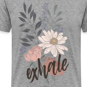 Exhale / brown - Männer Premium T-Shirt