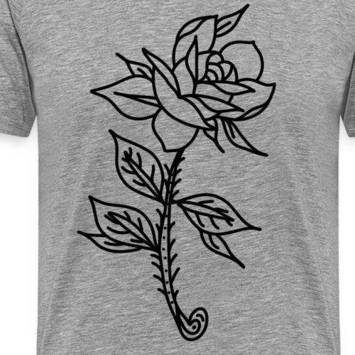 Rosa tatuaje - Camiseta premium hombre