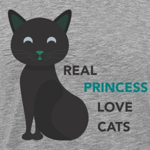 REAL LOVE PRINCESS CATS - T-shirt Premium Homme