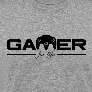 Gamer For Life Black af Juiceman Benji - Herre premium T-shirt