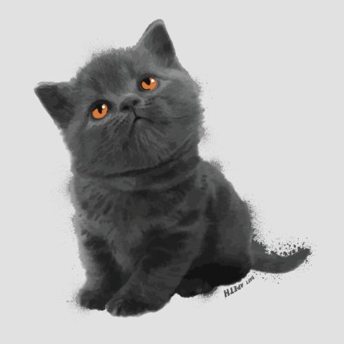 The British Shorthair - Cute Kitten - Men's Premium T-Shirt