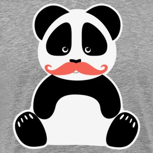 Panda Bear Moustache Nerd - Men's Premium T-Shirt