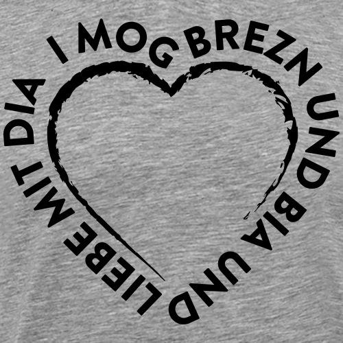 I mog Brezn Herz Oktoberfest - Männer Premium T-Shirt