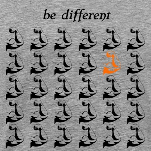 "Fitness Shirt Fitness Accessories ""be different"" - Men's Premium T-Shirt"