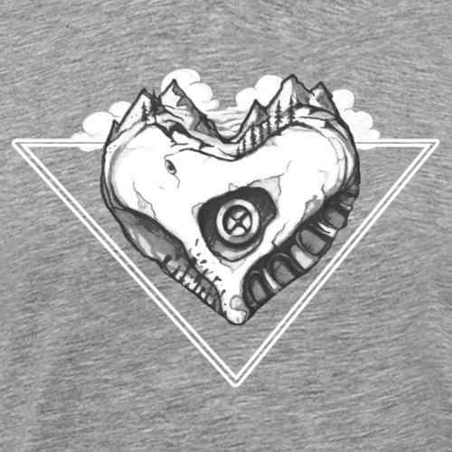 Berg Herz - Bouldering und Kletter-Shirt - Männer Premium T-Shirt