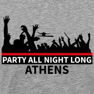 ATHENE - Party All Night Long - Mannen Premium T-shirt