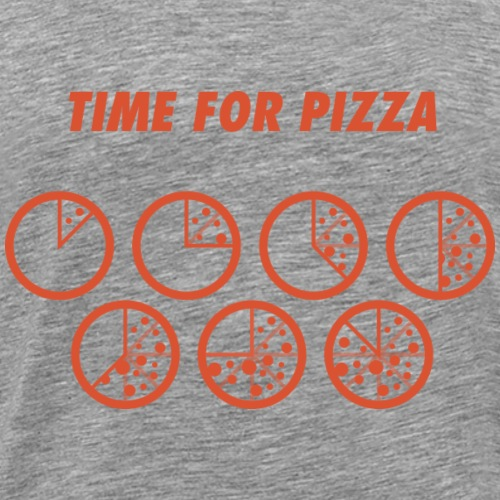 TIME FOR PIZZA - Mannen Premium T-shirt