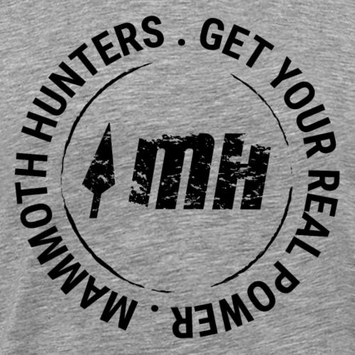 Mammoth Hunters / Círculo negro - Camiseta premium hombre