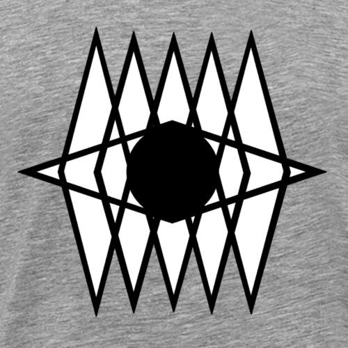 œil géométrique - T-shirt Premium Homme