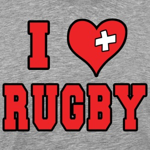 I Love Rugby Football - Herre premium T-shirt