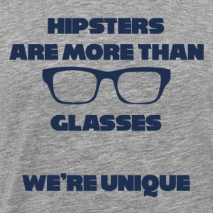 Hipster: Hipsters zijn morethan Bril. - Mannen Premium T-shirt