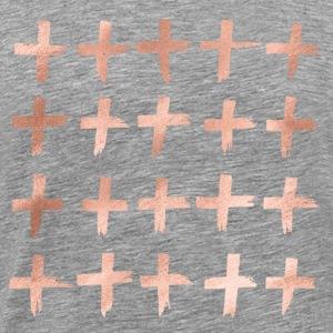 croix d'or rose - T-shirt Premium Homme