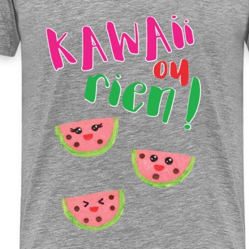 KAWAII OU RIEN - BISCUITS KAWAII PASTEQUE - T-shirt Premium Homme
