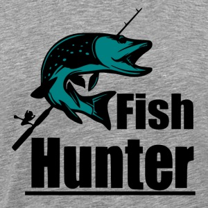 Fish Hunter - Fiske - Premium T-skjorte for menn
