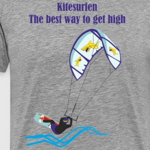 Kitesurfing The best way - Men's Premium T-Shirt