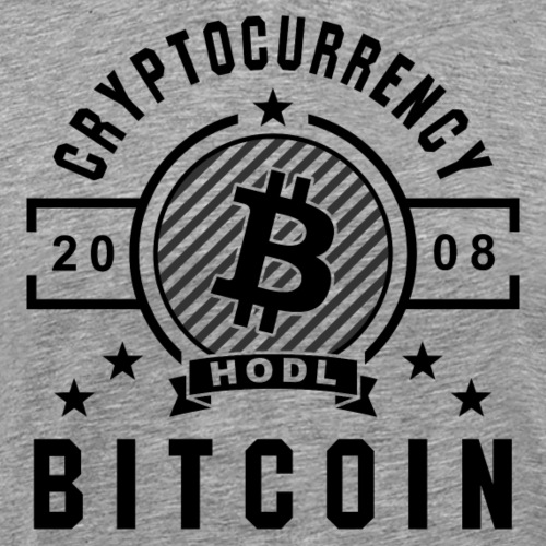Bitcoin Retro Black - Männer Premium T-Shirt