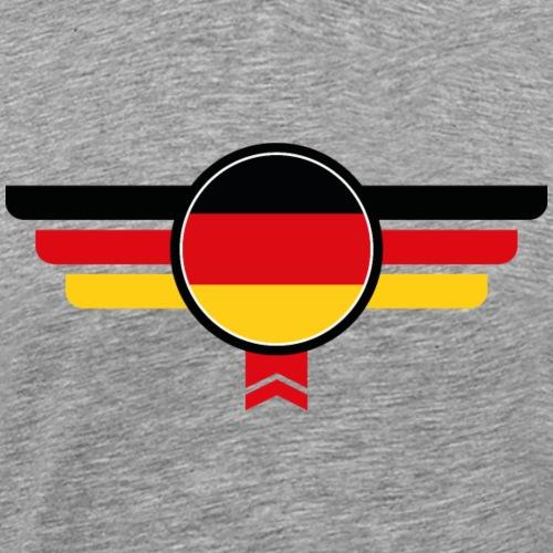 Deutschland Emblem Flagge - Männer Premium T-Shirt