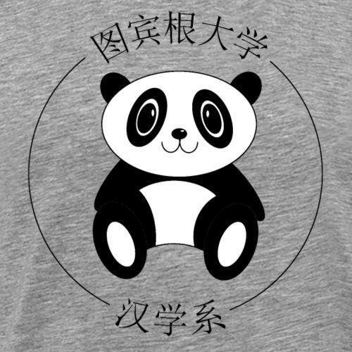 Panda mit Kurzzeichen (schwarze Schrift) - Männer Premium T-Shirt