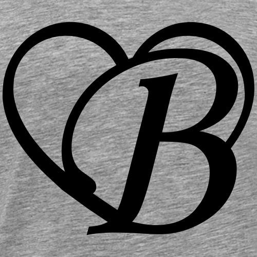 Herz Buchstabe B - Männer Premium T-Shirt