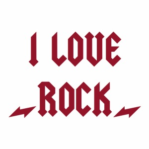 I LOVE ROCK - T-shirt Premium Homme