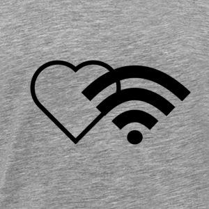 WiFi Liebe / Wireless Heart / I love to be online - Männer Premium T-Shirt