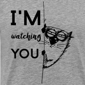 watching you - Herre premium T-shirt