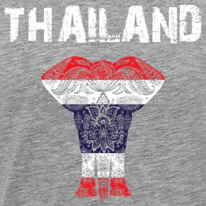 Nation utforming Thailand Elephant - Premium T-skjorte for menn