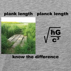 planck length - Männer Premium T-Shirt