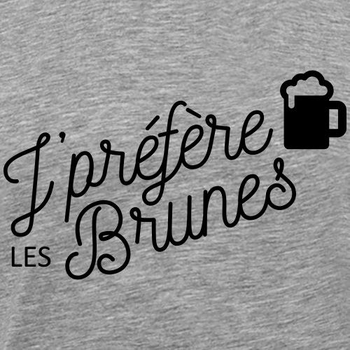 Je préfère les brunes - T-shirt Premium Homme