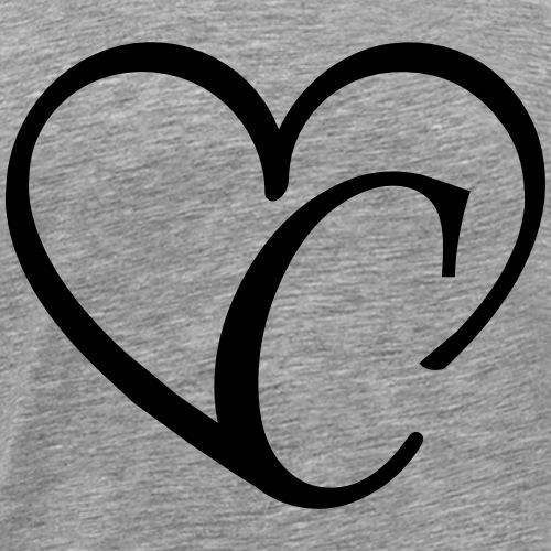 Herz Buchstabe c - Männer Premium T-Shirt