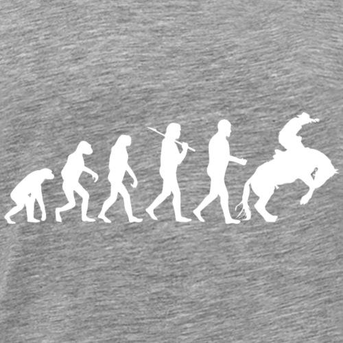 Rodeo Reiten Cowboy Country Reiter Evolution - Männer Premium T-Shirt