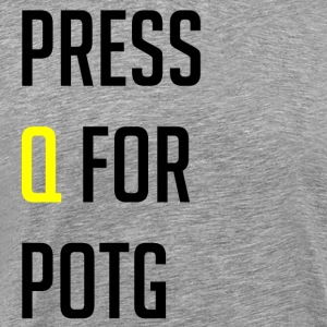 Press Q for play of the game - Premium-T-shirt herr