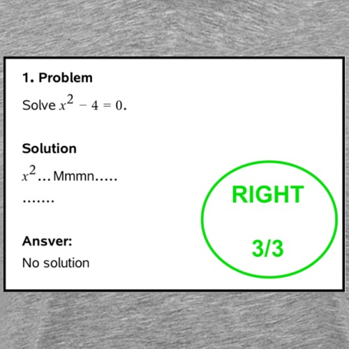 No solution - Miesten premium t-paita