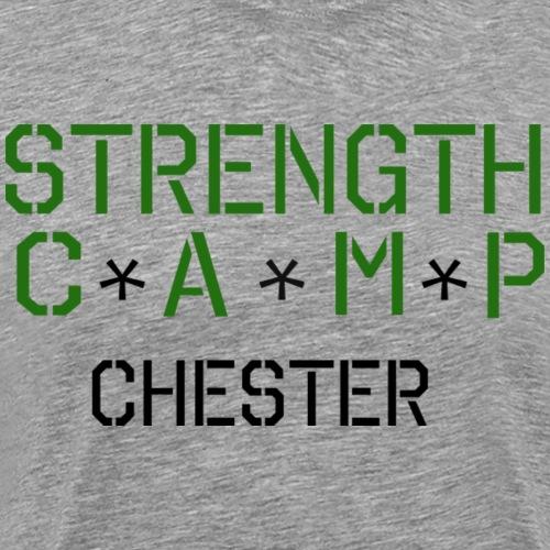 strength camp green and black - Men's Premium T-Shirt
