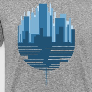 City scape descended - Men's Premium T-Shirt