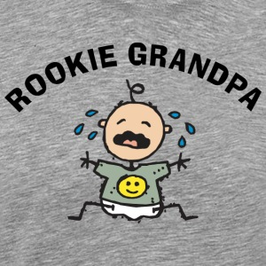 Rookie Grandpa (Personalize with Date or Name) - Men's Premium T-Shirt
