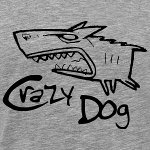 crazy dog ​​1 - Männer Premium T-Shirt