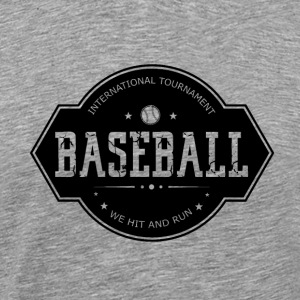 Baseball - Hit and Run - Men's Premium T-Shirt