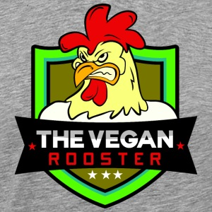 THE VEGAN ROOSTER - Herre premium T-shirt