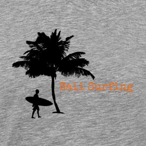 Bali Surfing Surfer mit Palme Stencil / Silhouette - Männer Premium T-Shirt