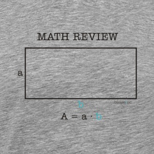 Math Review Rectangle - Maglietta Premium da uomo
