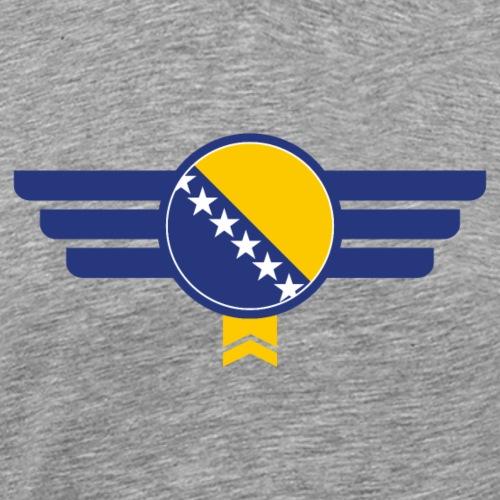 Bosnien Flagge Emblem - Männer Premium T-Shirt