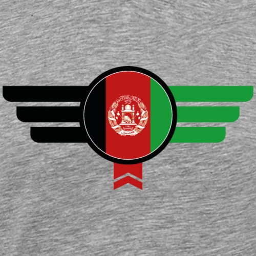 Afghanistan Emblem Flagge - Männer Premium T-Shirt